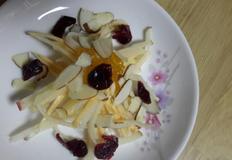요쿠르트에절인 고구마사과 유자청샐러드