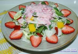 딸기 양상추 샐러드와 딸기 쥬스 만들기