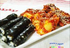 충무김밥 오징어무침