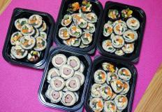 가을소풍도시락, 이보다 풍성할수 없다 김밥도시락 5가지 김밥