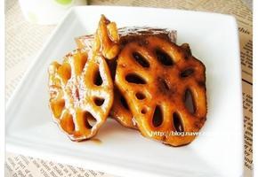 아삭아삭 달콤한 호두연근조림