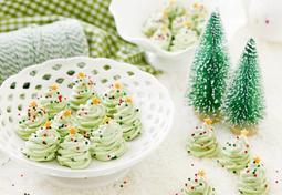 계란 흰자만 남았을 때~ 크리스마스 트리 머랭쿠키!