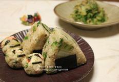 우거지 된장 게살 현미주먹밥&우거지된장무침