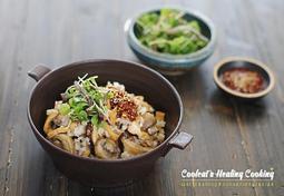 버섯과 유부의 극강 케미!! 쫄깃쫄깃 식감 좋고 고소한 버섯 유부밥
