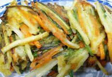 야채전, 부추 감자 당근을 넣은 전, 아이간식