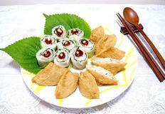 유부초밥&양배추롤 쌈밥 봄 나들이 도시락 간편하게!
