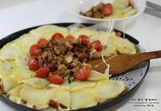 포테이토 불고기 피자 만들기::포테이토피자 와 토마토페이스트