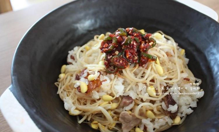 콩나물밥 - 아삭한 식감이 일품 알토란콩나물밥 양념장