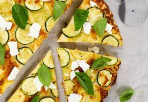 주키니 베이질피자 (애호박 바질피자)와 피자도우 만들기