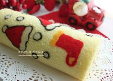 산타모자&양말롤케이크