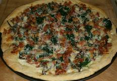 명절 세가지 나물과 마늘크림소스 피자