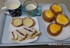 아이 간식-바나나 두유 & 계란빵