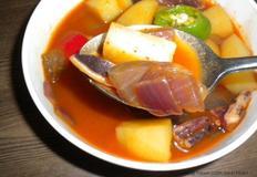 마른 오징어 감자 고추장찌개