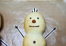 꾸밀 수 있는 눈사람빵 만들기