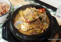 집밥백선생 간단하게 바지락 된장찌개만들기