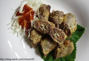 든든한영양식 담백한맛 쇠고기김치말이튀김