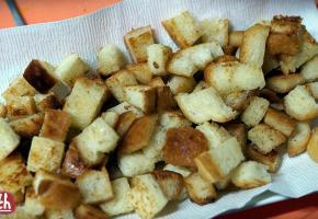 코코넛오일로 식빵크루통 만들기