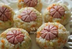 소세지 꽃 주먹밥 만들기 # 피크닉 도시락