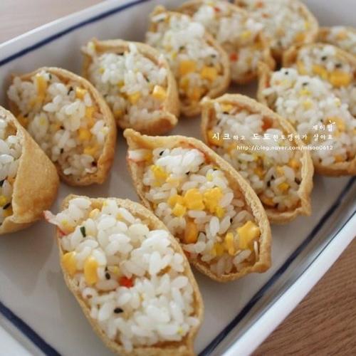 유부초밥 - 크래미 유부초밥