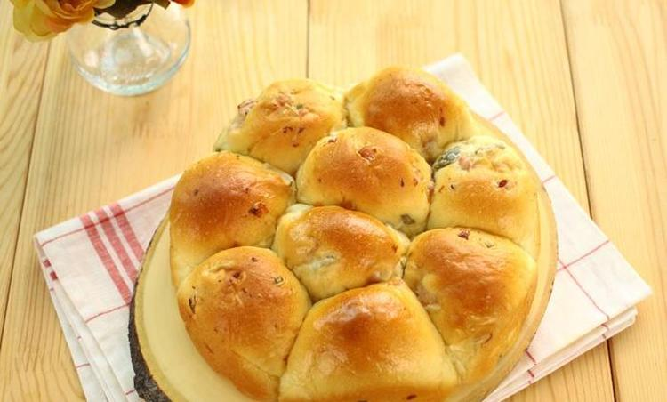 햄 올리브 빵
