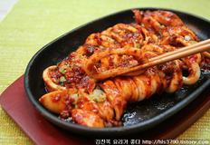 통오징어 불고기 만들기