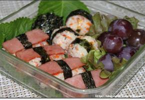 간단 도시락 - 참치야채주먹밥&김치햄야채주먹밥