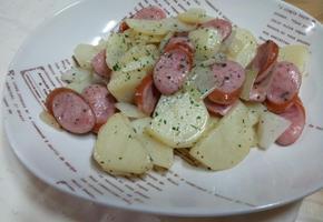 감자 소시지볶음 독일식으로~