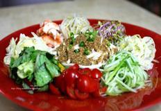 중국식 야채 비빔냉면