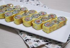 계란말이김밥 없는재료로 맛깔나게 만들기 - 도시락메뉴