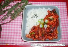 바싹 오징어 볶음/ 매콤 오징어 덮밥