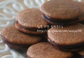 [노오븐디저트] 루이강 프라이팬 마카롱 # 마카롱 이라고 부르고 초코빵이라 적어봅니다.
