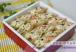 크래미 유부초밥 도시락 만들기