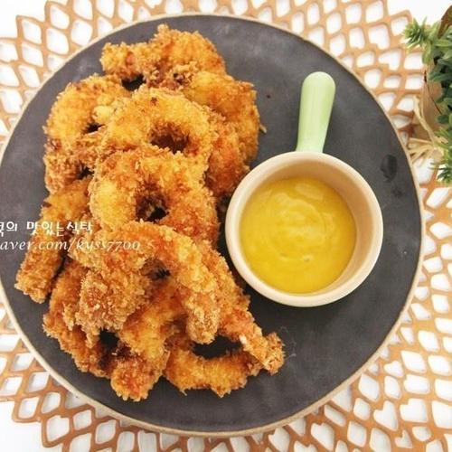 새우튀김 바사삭 쫄깃한 맛~#