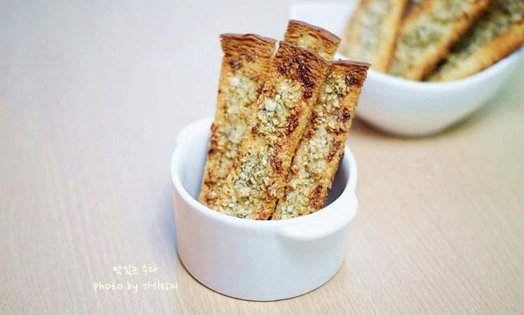 남은 식빵으로 바삭바삭 마늘빵만들기