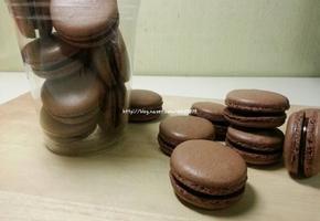 초콜릿믹스활용![초코마카롱]+영상