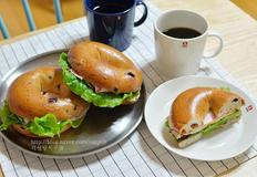 햄치즈베이글 샌드위치 만드는법