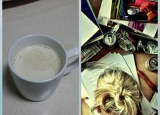 """잠깨는 """"커피라떼"""" 만들기~"""