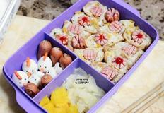 견학/소풍도시락 소세지꽃주먹밥, 소세지문어 & 메추리알 토끼, 병아리, 돼지