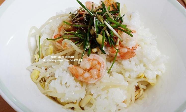 새우콩나물밥과 달래양념장 만들기