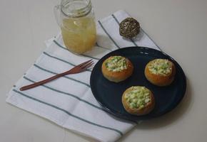 브로콜리 듬뿍 모닝빵 샌드위치 만들기