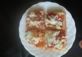 한입 네모 피자