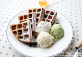 홈메이드 카푸치노 와플&아이스크림 만들기