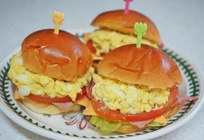 피크닉 도시락 메뉴/ 모닝빵 샌드위치 만들기