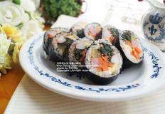 봄나물 도시락, 취나물 김밥