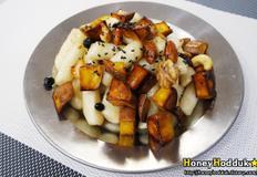 고구마 꿀떡강정 , 꿀떡볶이와 고구마 맛탕을 한접시에 :)
