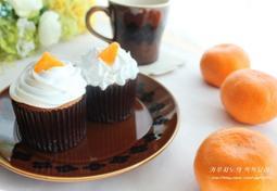감귤 생크림 컵케이크