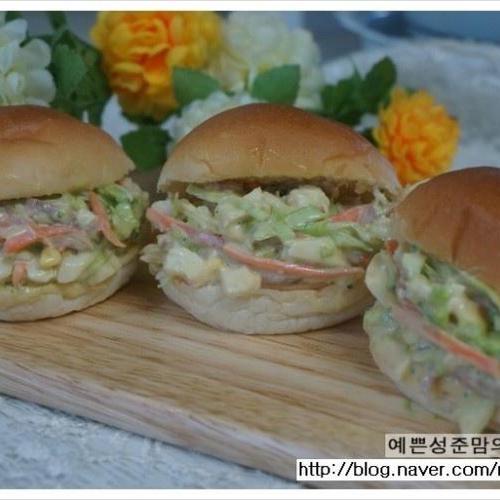 오리슬라이스 샐러드빵 만들기 - 영양만점 아이들간식으로 좋아요~~~~