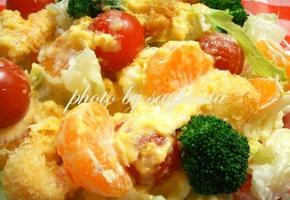 귤드레싱 새우야채 샐러드