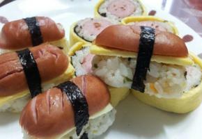 소시지 초밥과 김밥