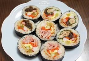참치김밥&우엉김밥&베이컨김밥(김앞뒤구분법) + 새댁을 위한 K.EY 레시피